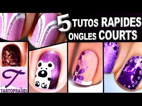 Ongles Courts 5 Tutos Nail Art Faciles Au Vernis Pour D Butants Youtube