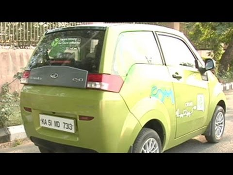 Test drive of India's first electric car