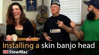 Watch the Trade Secrets Video, How to install a skin banjo head