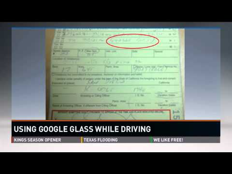Woman ticketed in San Diego for driving while wearing Google Glass