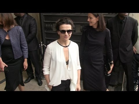 Juliette Binoche at Armani Prive Fashion Show in Paris