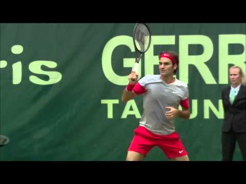 Halle 2014 Saturday Highlights Federer Nishikori