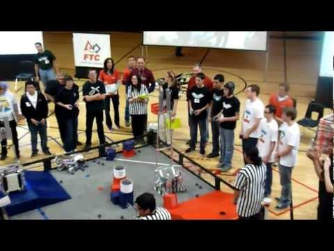 FTC 2012 Arizona Regional Qualification,   High lifters 4314 Vs 2488 face off.
