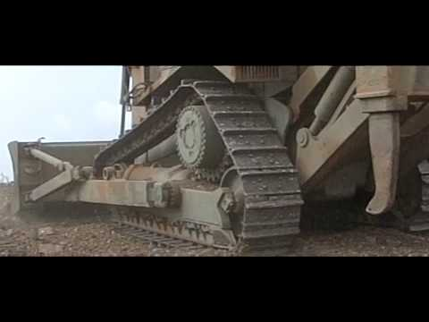 Hellenic Army Engineers Cat D7H slow motion. HD video