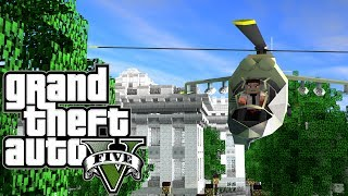 "Minecraft GTA V Grand Theft Auto V Mod Ep 2! ""HOSTILE"