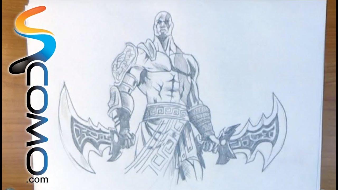 dibujar a kratos de god of war   youtube