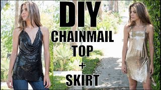 DIY: How To Make  CHAINMAIL Top + Skirt! (No Sew-No Seam) -By Orly Shani