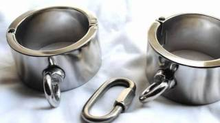 Bondage Gear & Fetish Stainless Steel Heavy Duty Cuffs