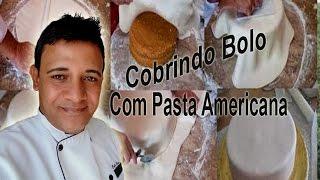 Cobrindo Um Bolo Com Pasta Americana Confeitaria Online