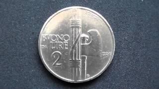 MONETE ITALIANE DA BUONO DA LIRE 1 E BUONO DA LIRE 2. DEL