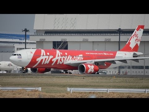 First flying!! Thai Airasia X Airbus A330 Narita Airport 34L Takeoff