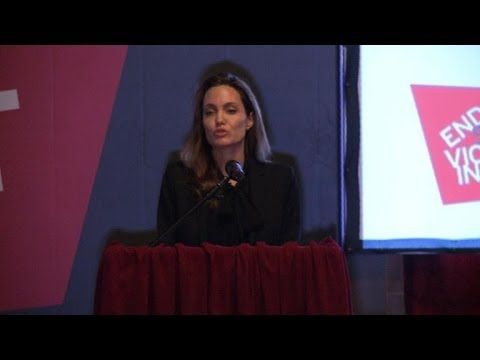 Angelina Jolie calls for an end to sexual violence