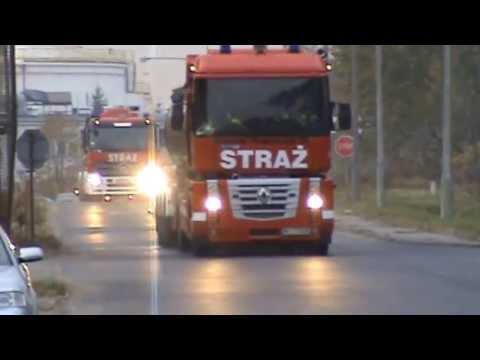 Straż pożarna: Dwie cysterny alarmowo - JRG 17 Warszawa i JRG Błonie