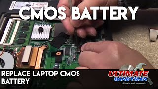 How to replace a laptop cmos battery