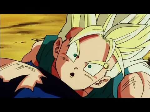 DBZ - Vegeta Hugs His Son And Hits Trunks & Goten After That!