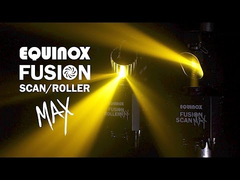Equinox Lighting Effects Fusion Scan MAX 30W LED DMX DJ Lighting Effect 0-100% Dimming & Variable Strobe