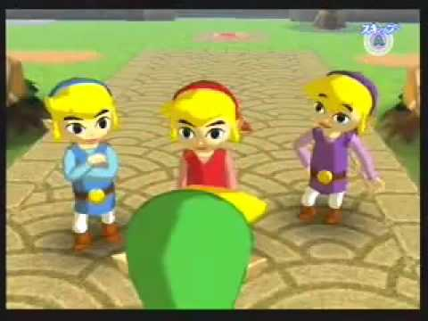 The Legend of Zelda: Four Swords Adventures - Tetra's Trackers Intro