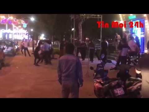Nhóm thanh niên đánh nhau kinh hoàng ở quán bar tại Nha Trang