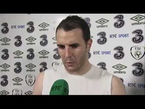 Republic of Ireland v Latvia - Post Match Interviews - John O'Shea and James McCarthy (15/11/13)