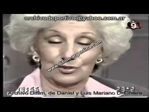 Almorzando con Mirtha Legrand -  Estela de Carlotto con Aldo Rico   1997