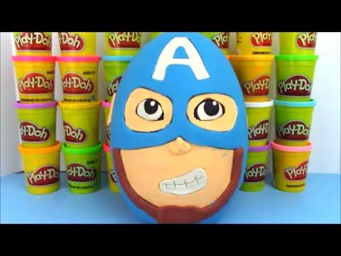 Captain America Civil War Full Movie  Giant Playdoh Surprise Egg