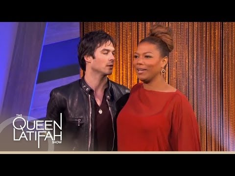 Ian Somerhalder Plays Just Dance with Queen Latifah