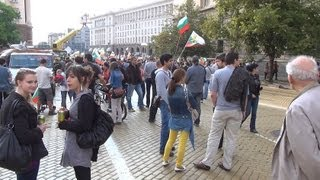 [Protest in Sofia 01.07.2013 in front of Council of Ministers...]