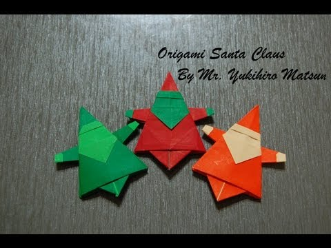 Origami Christmas Santa Claus - How to fold an Origami Santa Claus