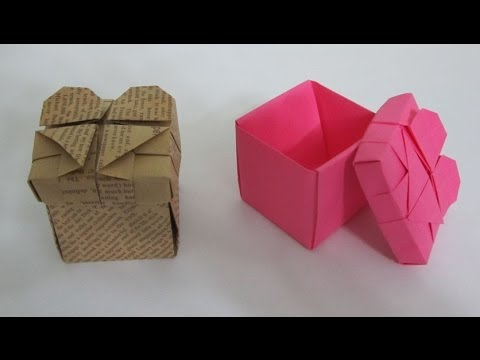 Tutorial how to make an origami heart box youtube - How to make a paper heart box ...