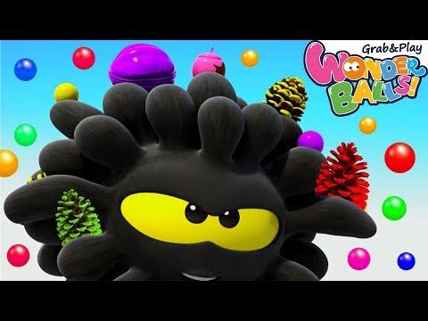 Crazy Balls Paint Fun | Squishy Wonderballs | Funny Cartoons for Children | Balls for Kids