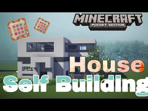 Command Block Map || Self Building House in MCPE || Minecraft Pe