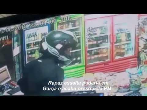 Câmeras de segurança ajudam PM a prender assaltante