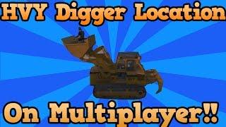 GTA 5 Online Secrets: HVY Bulldozer Location (How To Get The HVY Digger On Multiplayer) GTA V