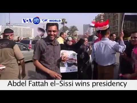 Former Egyptian army chief Abdel Fattah el-Sissi wins presidency- VOA60 World