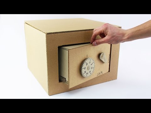Cardboard Safe -- Fully Functional! But probably not the most secure.