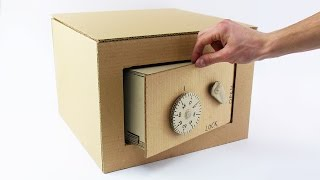 How to Make Safe with Combination Lock from Cardboard