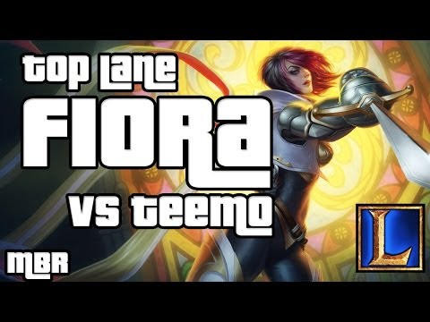 Fiora Vs Teemo Top lane - Season 4 League of Legends Gameplay - HD