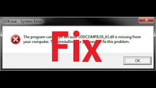 How To Fix D3DCompiler_43.dll Not Found Or Missing Errors