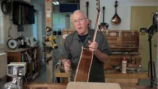 Watch the Trade Secrets Video, Video: Gluing a Martin D-35 back brace