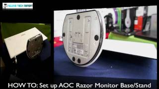 HOW TO: Set Up AOC Razor Monitor Base/Stand HD