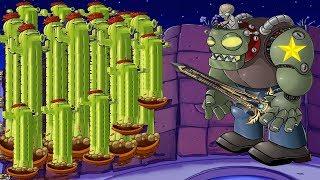 Plants vs Zombies Hack -  99 Cactus vs Dr. Zomboss