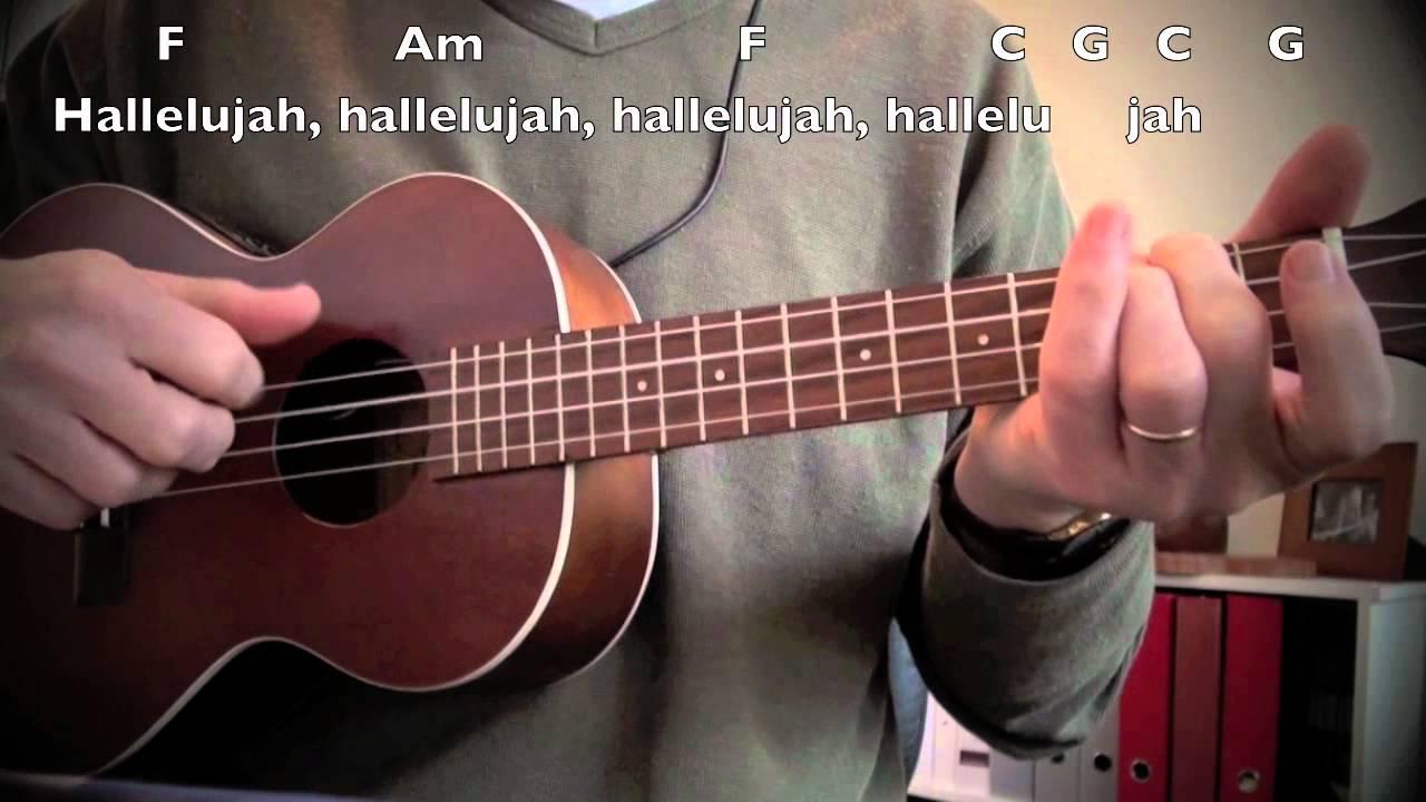 Hallelujah cover, Ukulele with Chords, Lyrics - YouTube