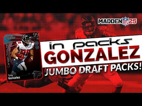 MUT 25 - 99 Tony Gonzalez in Packs! - Madden 25 Ultimate Team - Jumbo Draft Packs!