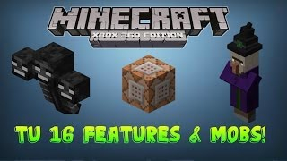 "Minecraft Xbox 360 : ""TU 17 UPDATE""! FEATURES & MOBS"