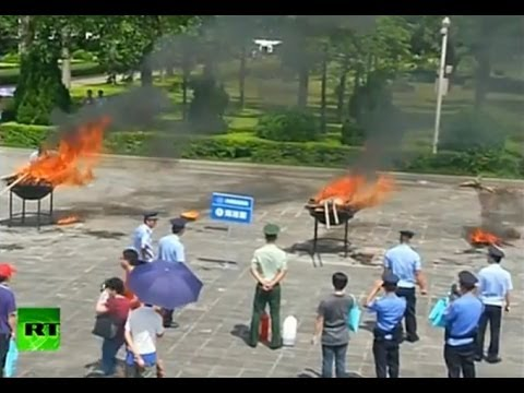 Tons of narcotics burned across the world on International Day against Drug Abuse