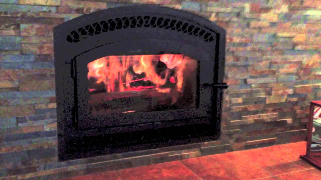 bis tradition ce zero clearance wood burning fireplace burn video