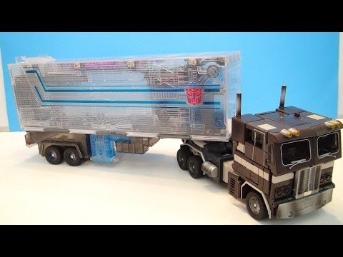 TRANSFORMERS MASTERPIECE SLEEP CONVOY OPTIMUS PRIME VIDEO TOY REVIEW