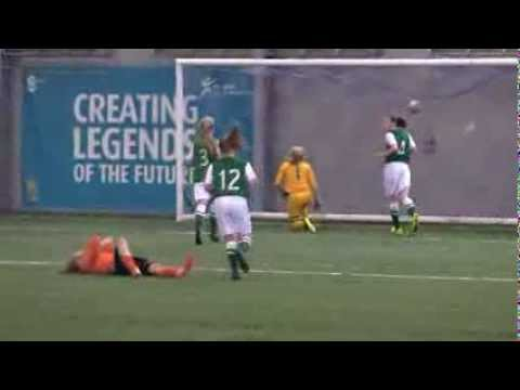 Tip over the bar! Save from the girls Scottish Youth Cup Finals