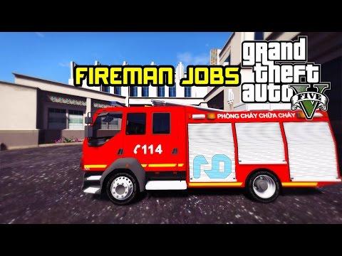 GTA 5 - Làm tài xế xe cứu hỏa đi chữa cháy và cái kết quá nhọ !!!