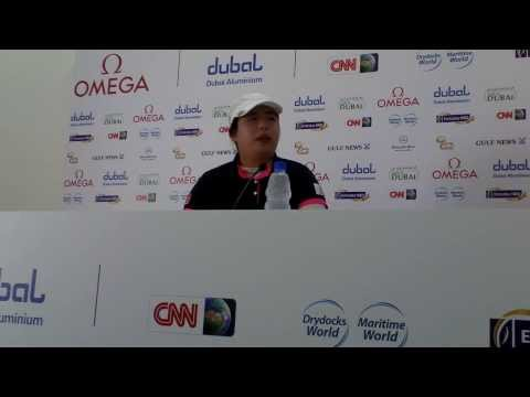 Shanshan Feng ahead of the 2013 Omega Dubai Ladies Masters